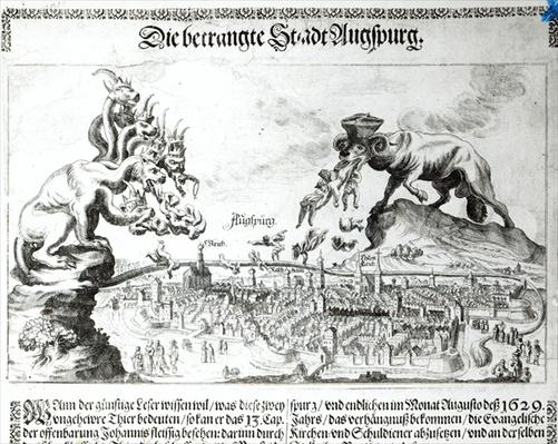 The City of Augsburg forced to accept Catholic Domination in 1629