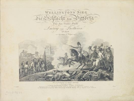 Title Page from 'Wellington's Victory, Op. 91', published by S.A. Steiner & Comp., Vienna