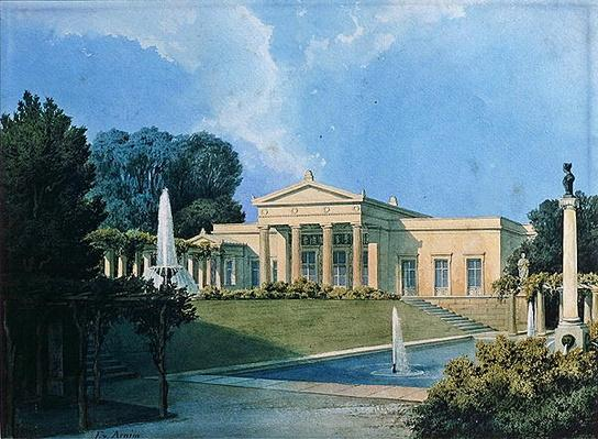 View of Charlottenhof from the garden, 1855