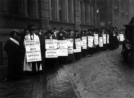 Anti-Liberal Demo | Women's Suffrage | U.S. History