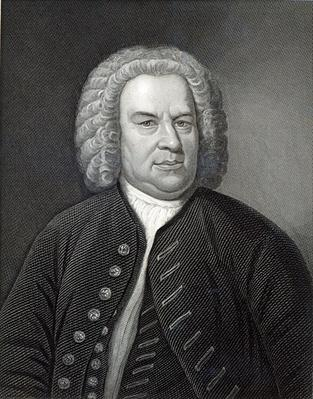 Portrait of Johann Sebastian Bach, German composer