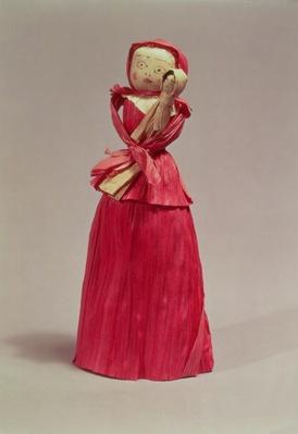 Corn husk doll, Victorian, c.1880
