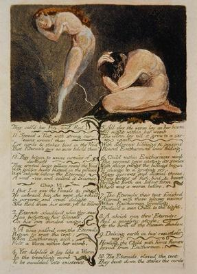 The First Book of Urizen, plate 17, 'They call'd her Pity and Fled..', 1794