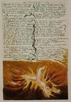 The First Book of Urizen, plate 19, 'Stretch'd for a work of eternity..', 1794