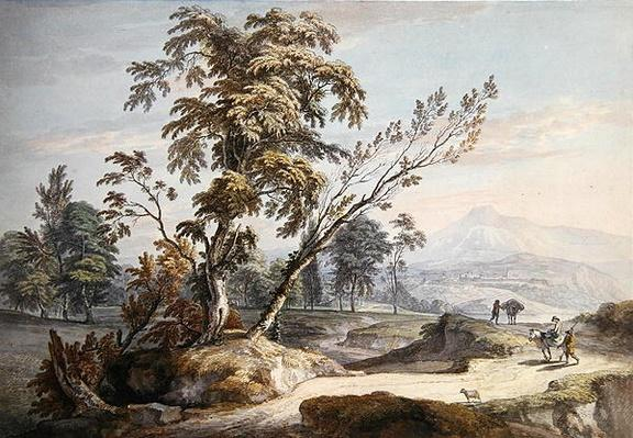 Italianate Landscape with Travellers no.2, c.1760