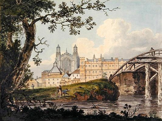 Eton College from Datchet Road, c.1790