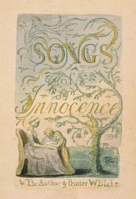 Title Page, plate 2 from 'Songs of Innocence: Innocence', 1789