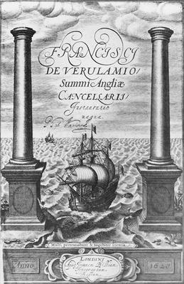 Title page of the First Edition of the 'Novum Organum' by Sir Francis Bacon, 1620