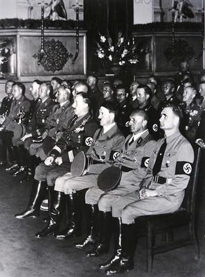 Leaders of the German Nazi Party at a Party meeting in the 1930s