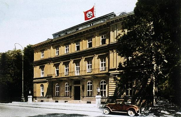 The Brown House in Munich, early headquarters of the growing Nazi Party