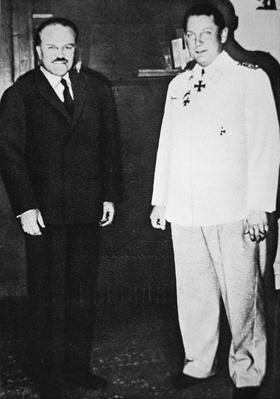 Hermann Goering meets with Molotov, Soviet Commissar for Foreign Affairs, in Berlin, November, 1940