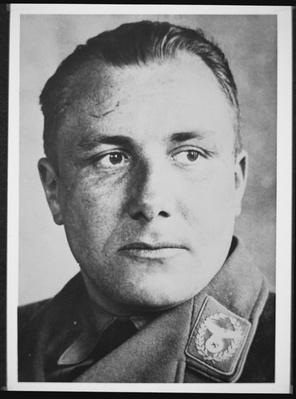 Martin Bormann, Head of the Nazi Party Administration and close adviser to Adolf Hitler