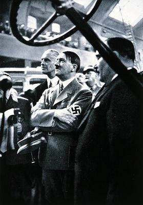 Hitler attends the International Automobile Show in Berlin, 1935