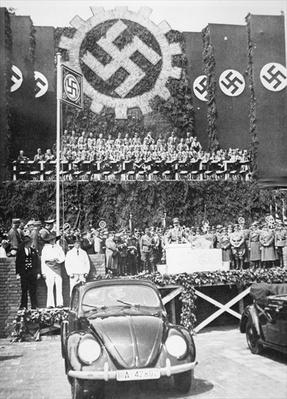Hitler launches the 'People's' Car, the beetle-shaped Volkswagen, 26th May 1938