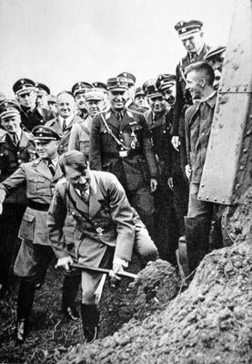 Hitler starts the building of the Reich-autobahnen, Frankfurt am Main, 1933