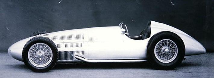 The 1.5 litre Mercedes Benz model built for the Tripoli Grand Prix, 1939