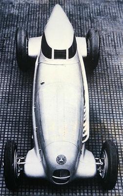 Mercedes Benz special 'Rekordwagen' that set a speed record on the Autobahn