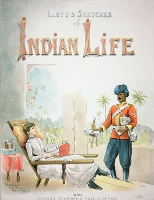 'The Colonels post orderly, Native Infantry', from Lloyd's Sketches of Indian Life, pub. London 1890