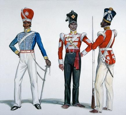 Indian Sepoy Uniforms at the time of the Indian Mutiny in 1857-58