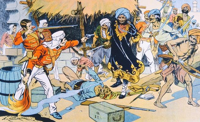 Destruction of the Magazine at Delhi during the Indian Mutiny 1857-58