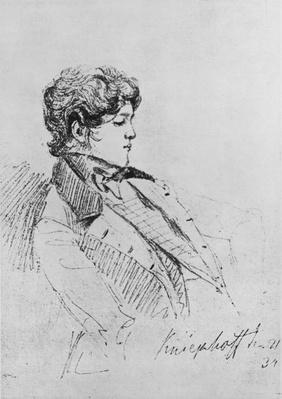 Portrait of Prince Otto von Bismarck, 1834