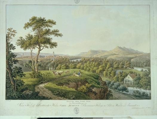 View of Jena from Rasenhuehlberg, c.1810