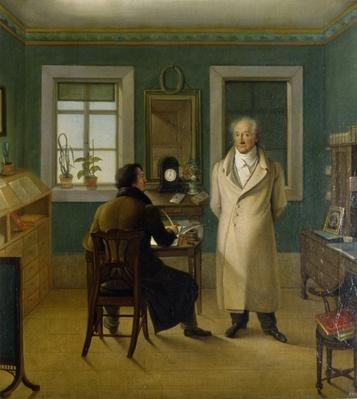 Goethe Dictating to his Clerk John, 1834