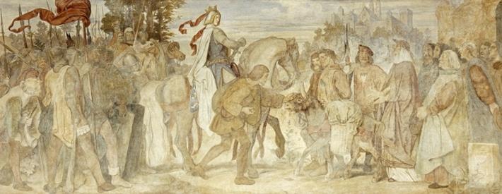 I am searching for my Donkey, Wartburg Castle, c.1854/55