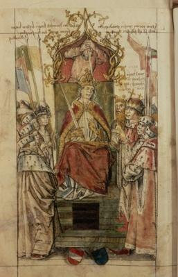 Frederick III surrounded by Prince Electors