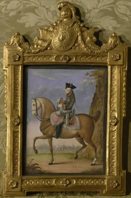 Frederick II on horseback