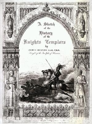 Cover of 'A Sketch of the History of the Knights Templars', by James Burnes