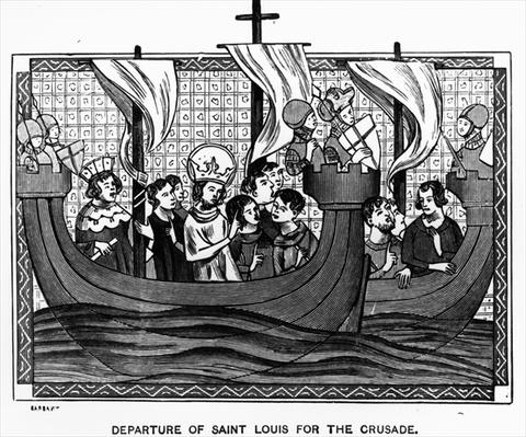 Departure of St. Louis for the Crusade