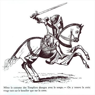 Illustration of a Knight Templar
