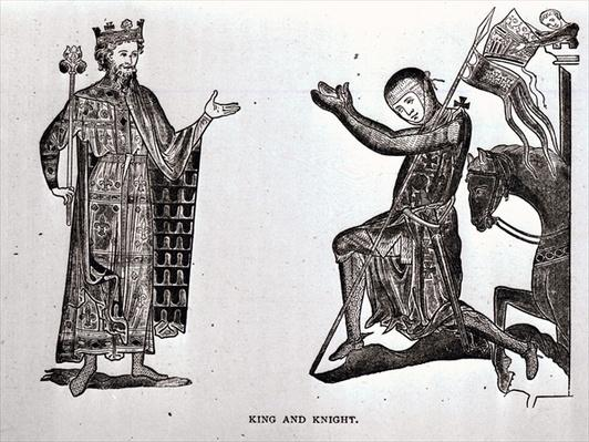 A King and a Knight, illustration from 'The Crusades: the story of the Latin Kingdom of Jerusalem' by T.A. Archer, pub. London, 1894