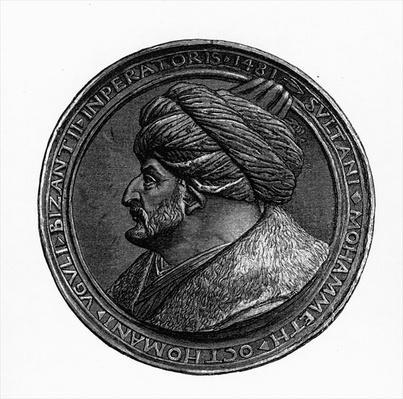 Medallion of Mehmed II, from 'Geschichte der Byzantiner und des Osmanisches Reiches' by G.S. Hertzberg, 1883