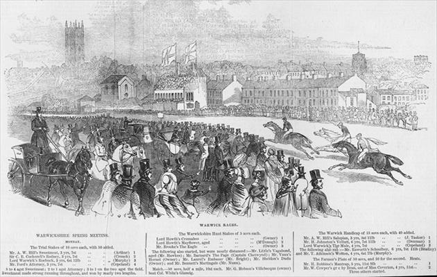 Warwick Races, from 'The Illustrated London News', 12th April 1845