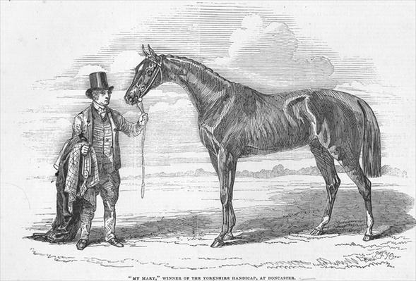'My Mary', winner of the Yorkshire Handicap at Doncaster, from 'The Illustrated London News', 4th October 1845
