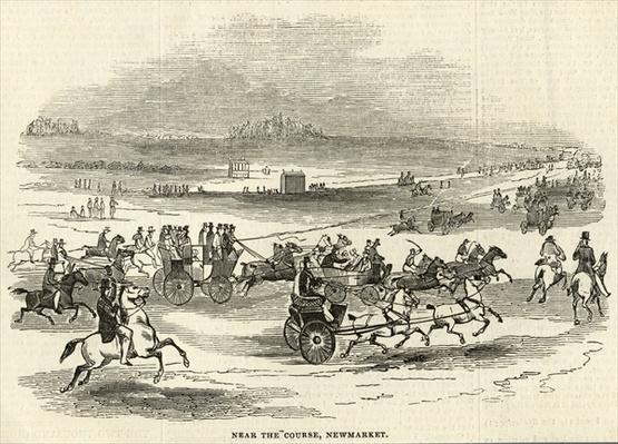 Near the Course, Newmarket, from 'The Illustrated London News', 3rd May 1845