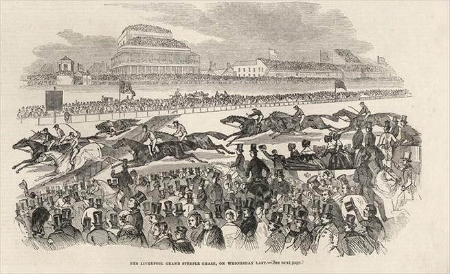 The Liverpool Grand Steeple Chase on Wednesday last, from 'The Illustrated London News', 8th March 1845