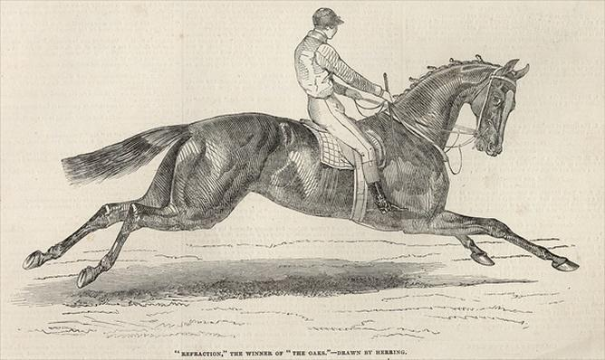 'Refraction', the winner of 'The Oaks', from 'The Illustrated London News', 7th June 1845