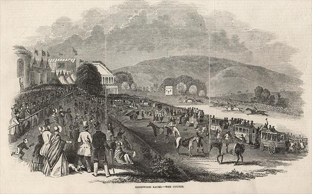 Goodwood Races: the Course, from 'The Illustrated London News', 1st August 1846