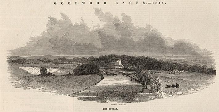 Goodwood Races: the Course, from 'The Illustrated London News', 2nd August 1845