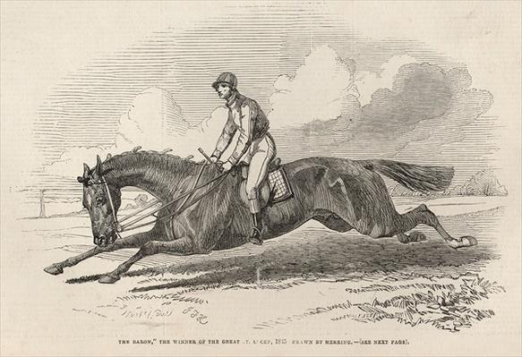 'The Baron', the winner of the Great St. Leger, from 'The Illustrated London News', 27th September 1845