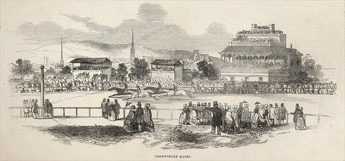 Shrewsbury Races, from 'The Illustrated London News', 24th May 1845