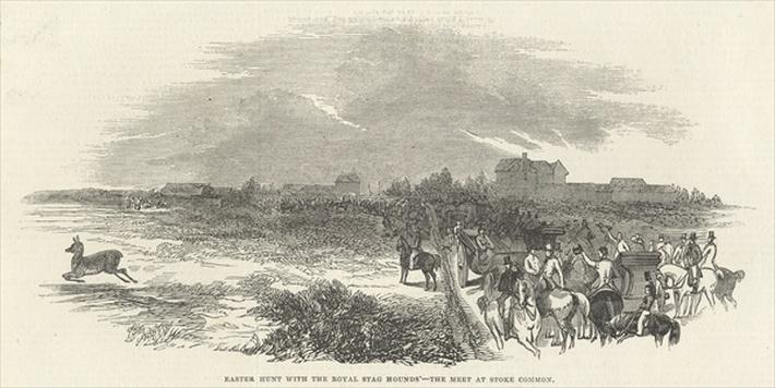 Easter Hunt with the Royal Stag Hounds: the Meet at Stoke Common, from 'The Illustrated London News', 29th March 1845