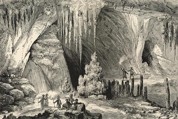 Interior of the Grotto of Antiparos