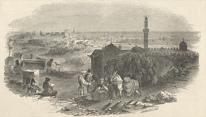 Foreign Corn Ports, Alexandria, from 'The Illustrated London News', 19th December 1846