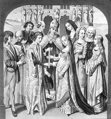 The Marriage of Henry VI and Margaret of Anjou, engraved by Freeman
