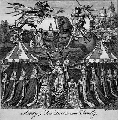 Henry 5th, his Queen and Family, engraved by Charles Grignion