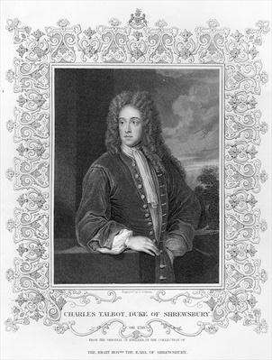Charles Talbot, Duke of Shrewsbury, engraved by J. Cochran